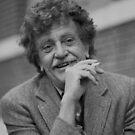 Kurt Vonnegut Schwarz-Weiß-Porträt von yungbean