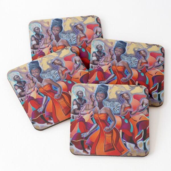 Khosa Dances Coasters (Set of 4)