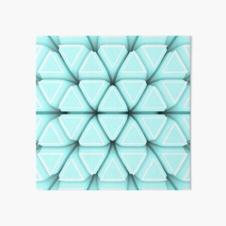 Turquoise triangle puzzle Art Board Print
