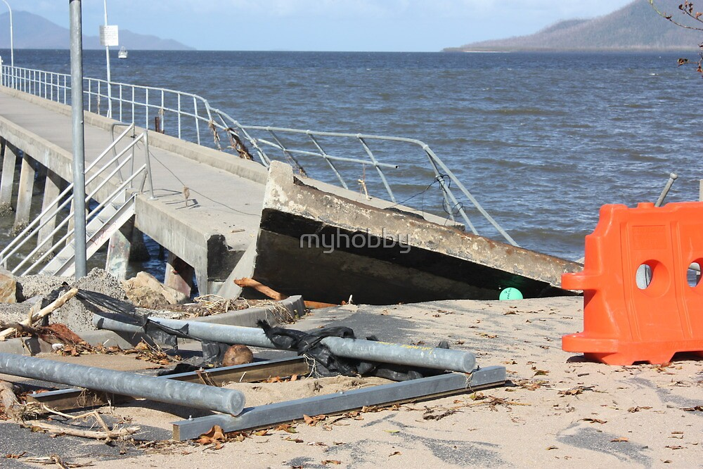 Cardwell Jetty Cyclone Yasi 2011 North Queensland, Australia by myhobby