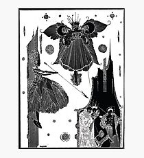 Page 48 illustration from Fairy tales of Charles Perrault Harry Clarke 1922 Inverted Photographic Print