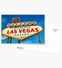 Welcome to Las Vegas sign Postcards