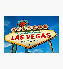 Welcome to Las Vegas sign Photographic Print