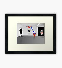 This is not a man - between Warhol and Magritte Framed Print