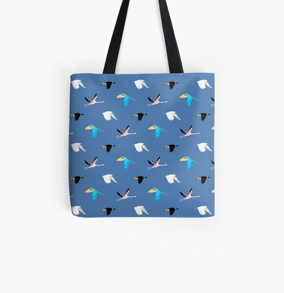 Tropical birds All Over Print Tote Bag