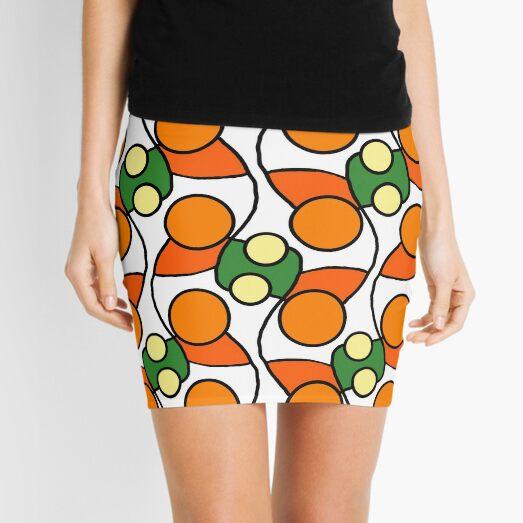 Orange Circle retrò design Mini Skirt