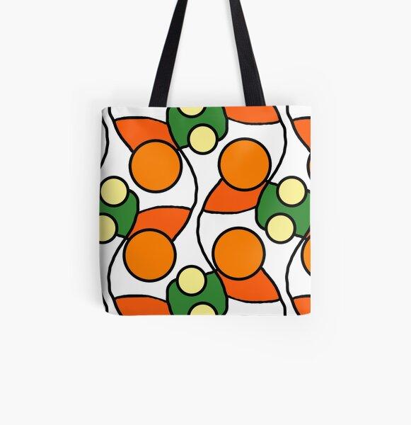 Orange Circle retrò design All Over Print Tote Bag
