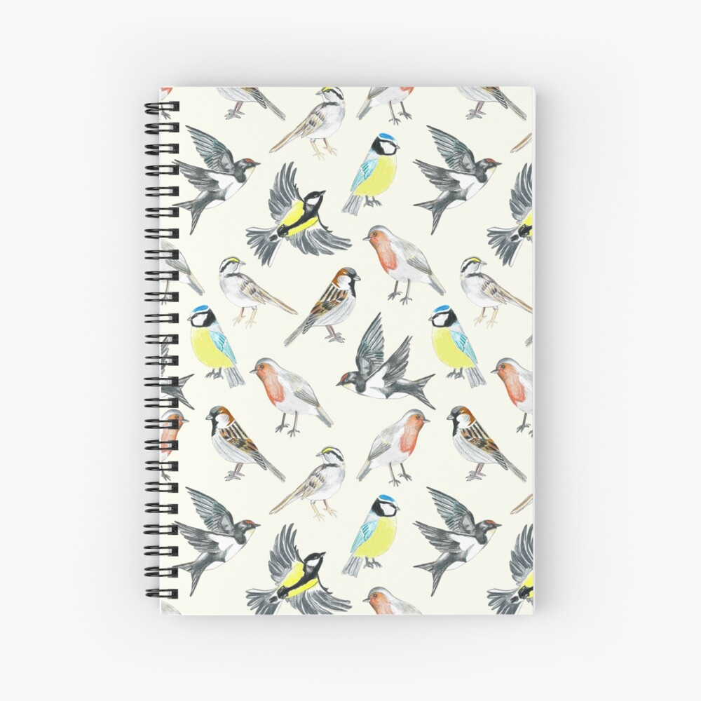 Illustrated Birds Spiral Notebook
