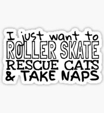 Skate-Cat-Nap Sticker