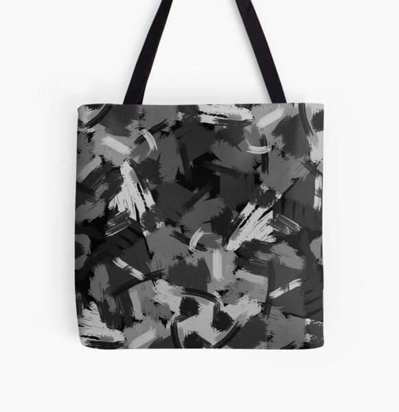Black and white painting All Over Print Tote Bag