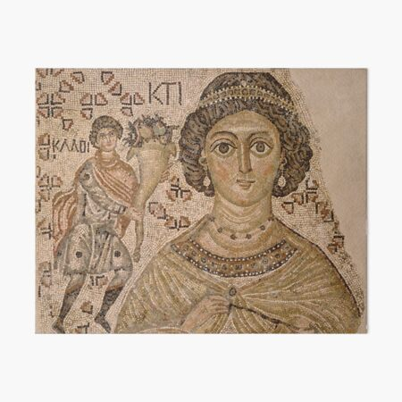 Fragment of a Floor Mosaic with a Personification of Ktisis, 500–550. Art Board Print