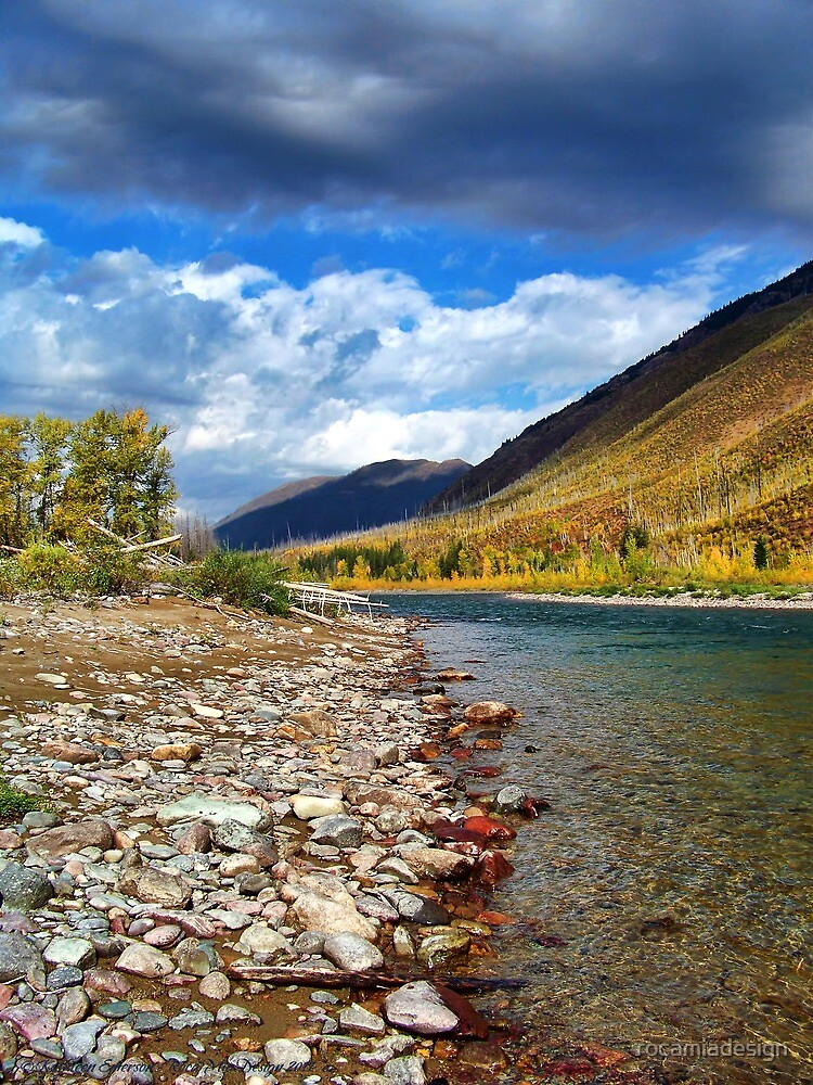 Glacier Park Autumn 3 (The Northfork) by rocamiadesign