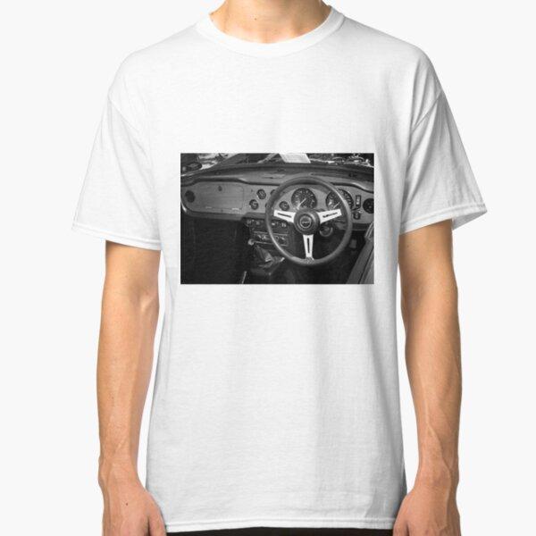 Classic Triumph TR6 Sports Car Interior Classic T-Shirt