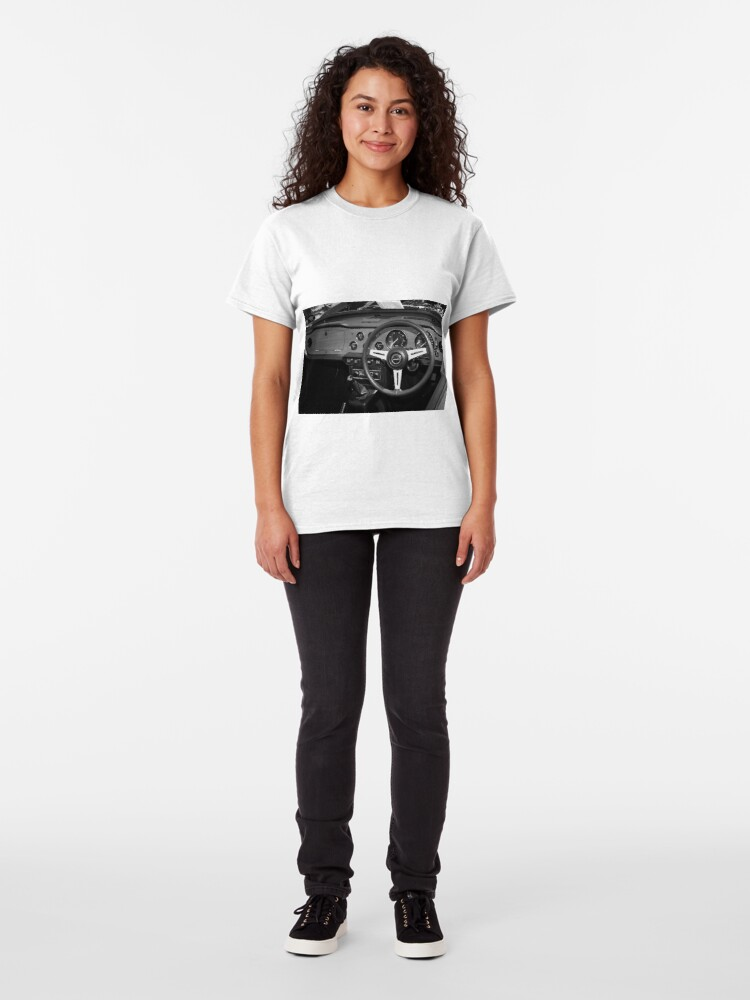 Alternate view of Classic Triumph TR6 Sports Car Interior Classic T-Shirt