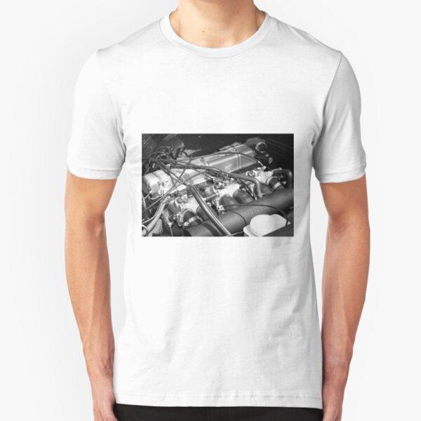 Classic Triumph TR6 Engine Slim Fit T-Shirt