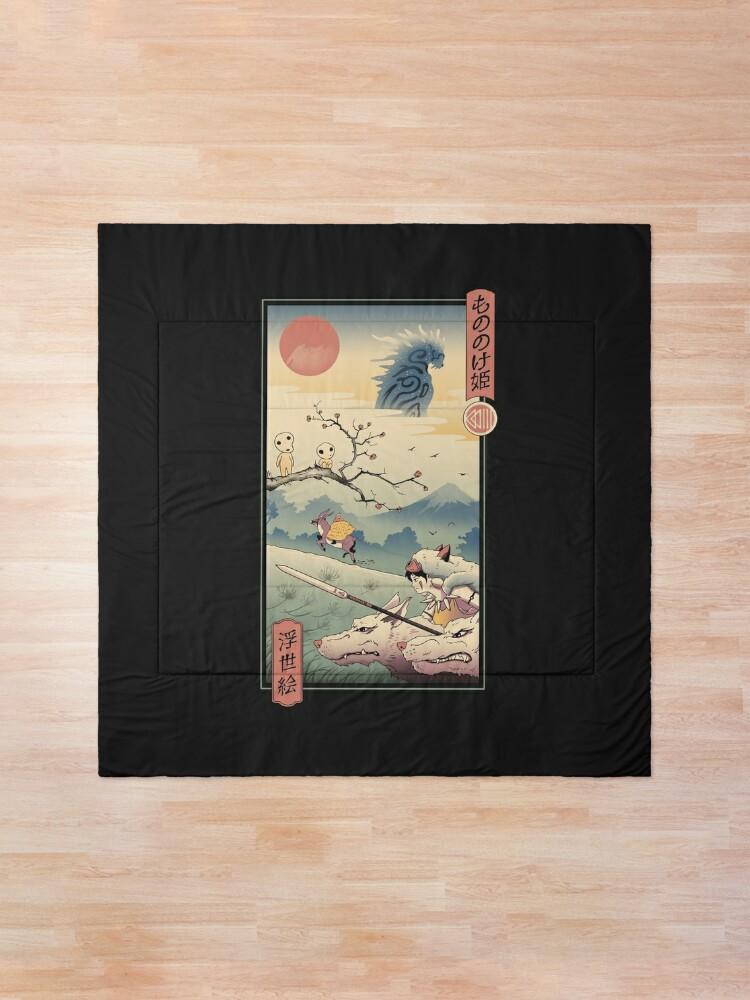 Alternate view of Wolf Princess Ukiyo e Comforter