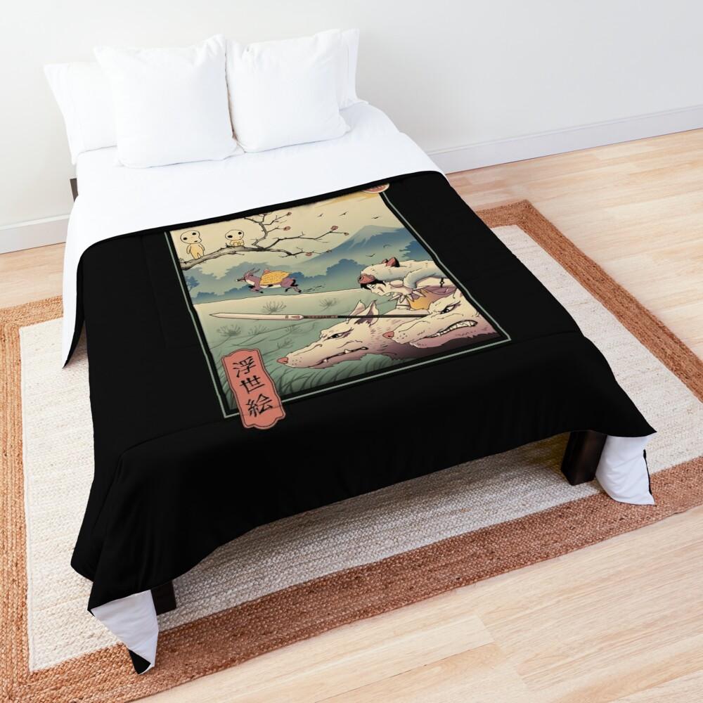 Wolf Princess Ukiyo e Comforter