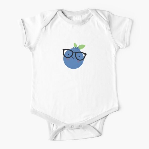 Happy Blueberry Short Sleeve Baby One-Piece