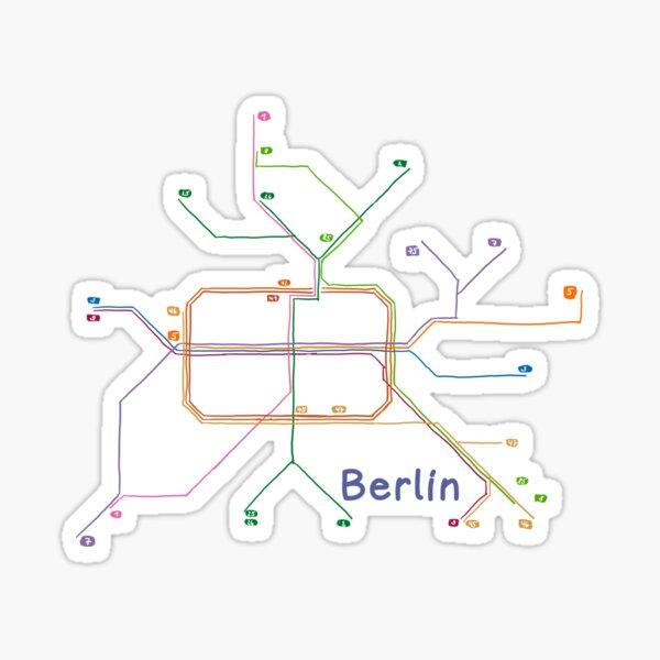 Strassenbahnnetz Berlin Sticker