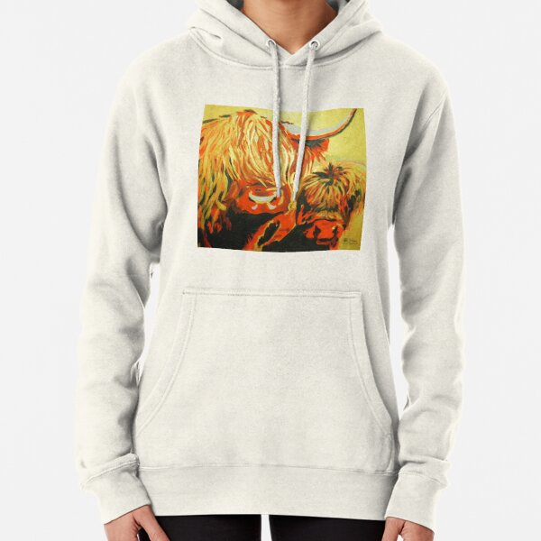 Highland cattle Pullover Hoodie