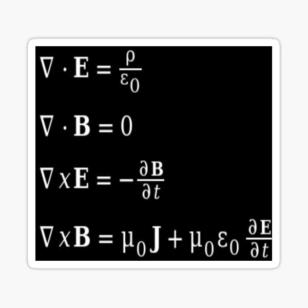 Maxwell equations Sticker