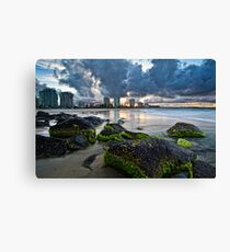 Coolangatta green and gold Canvas Print