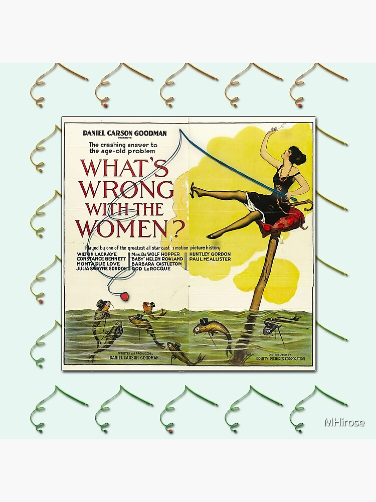 Vintage Fun Flapper Fishing Design Featuring 'What's Wrong With The Women?' by MHirose
