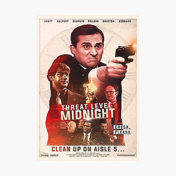 Threat Level Midnight Photographic Print