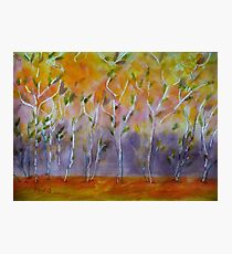 Orange Abstract Trees Photographic Print