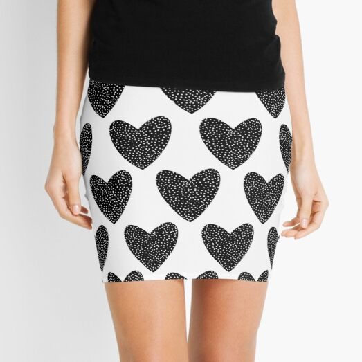 Black heart Mini Skirt