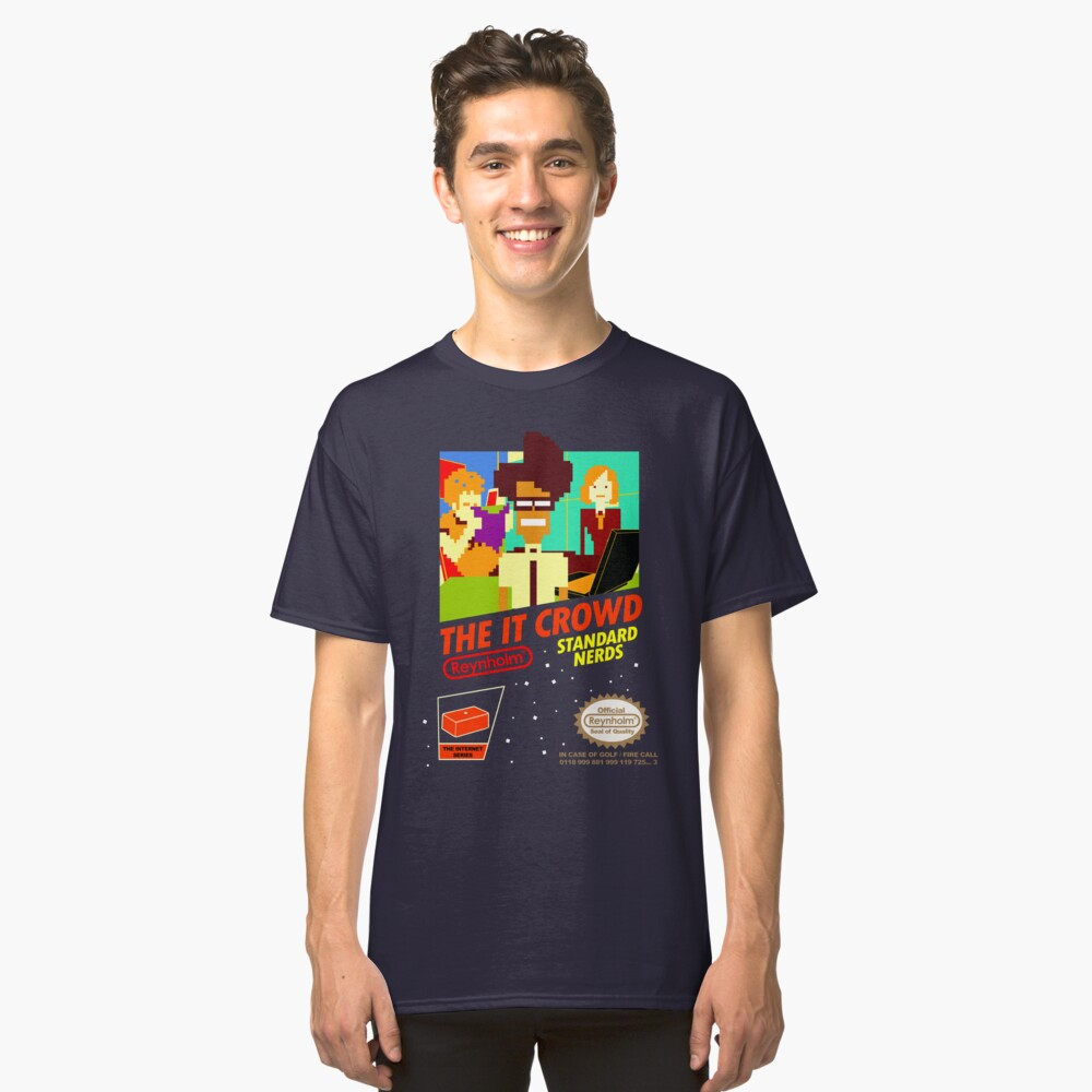 The IT Crowd NES game Classic T-Shirt Front