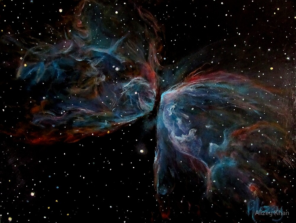 NGC 6302; Butterfly Nebula (Space Art) by Alizey Khan
