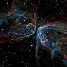 NGC 6302; Butterfly Nebula (Space Art) by Alizey Khan