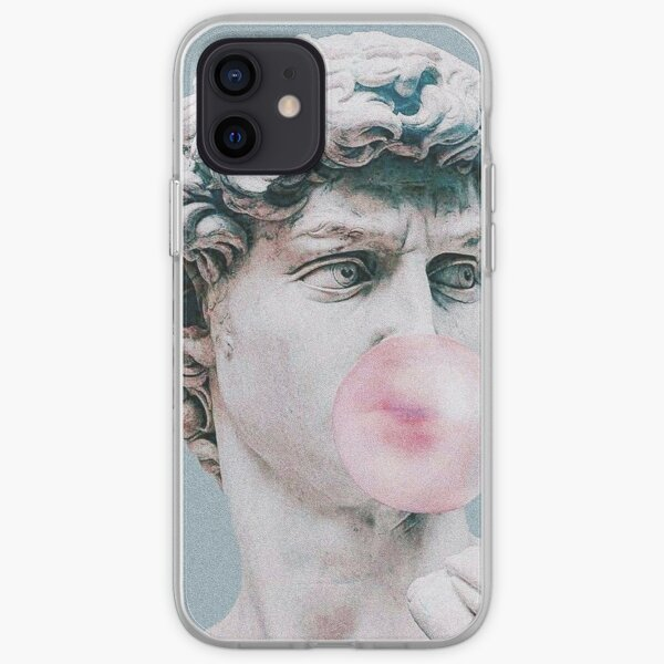 Retro phone case Greece statues with pastel color shapes iPhone aesthetic phone case