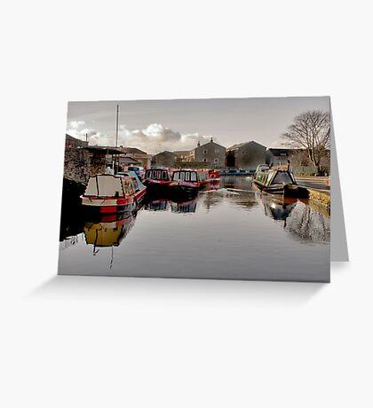 Skipton Canal Basin Greeting Card