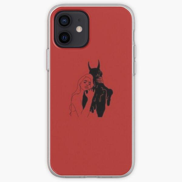 Une fille étreignant un démon Coque souple iPhone