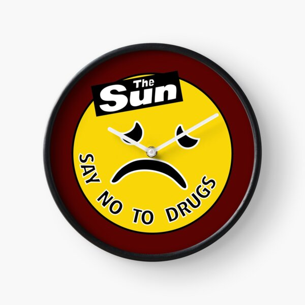 The Sun - Say No To Drugs [Acid House Rave Smiley / 'Frowny'] Clock