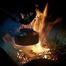 Coffee on open fire by Algot Kristoffer Peterson