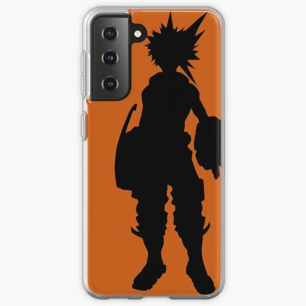 Black and orange Bakugou Samsung Galaxy Soft Case