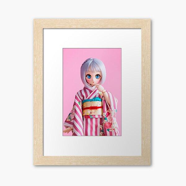 Nebula in pink Framed Art Print