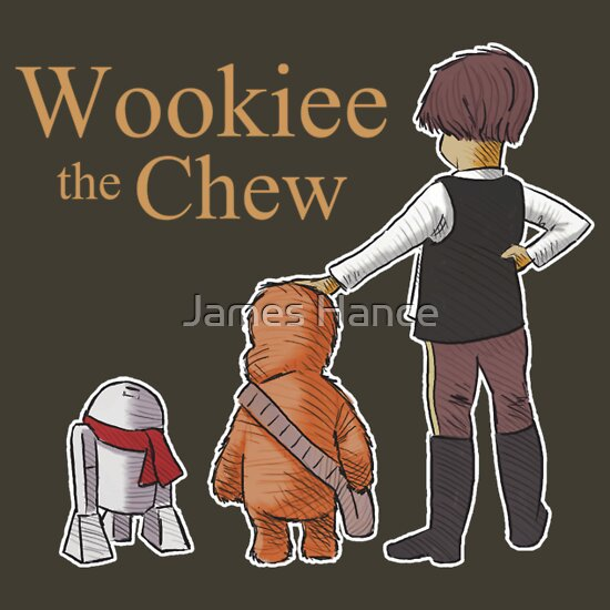 TShirtGifter presents: Droidlet, Chew & Chrisolo Robin (Wookiee The Chew) T-Shirt