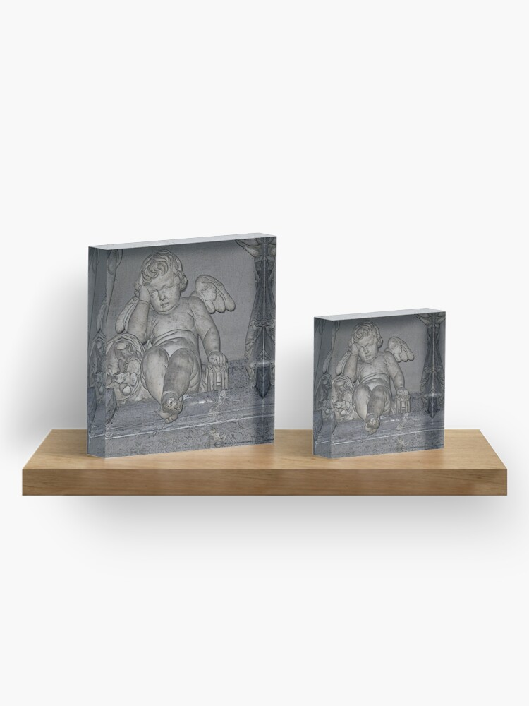 Alternate view of France. Amiens. Amiens Cathedral. Weeping Angel. Acrylic Block