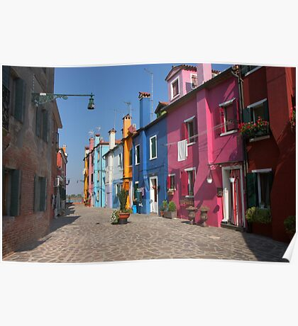 Colorful alley Poster