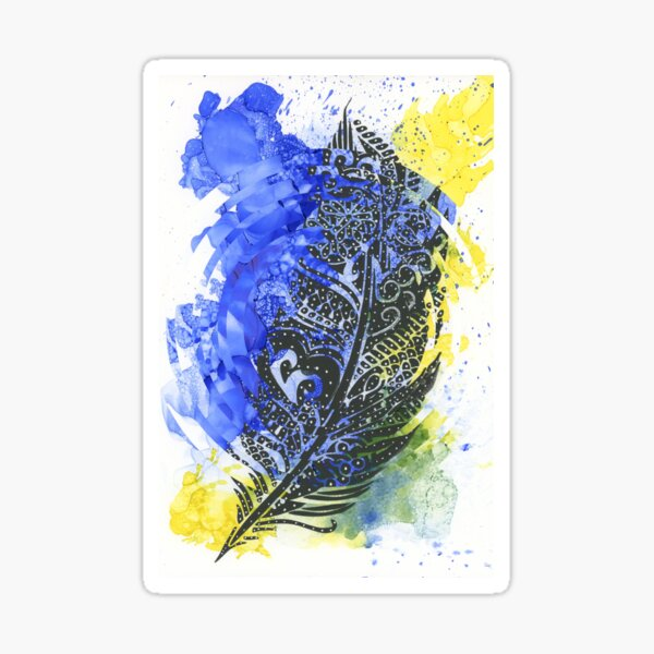 Feather of Delight - Abstract Design Sticker