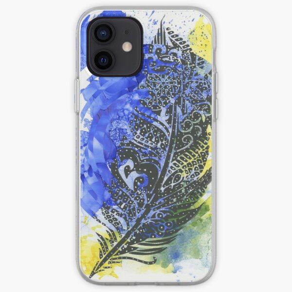 Feather of Delight - Abstract Design iPhone Soft Case