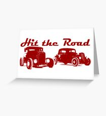 Hit the Road Hot-Rods Greeting Card