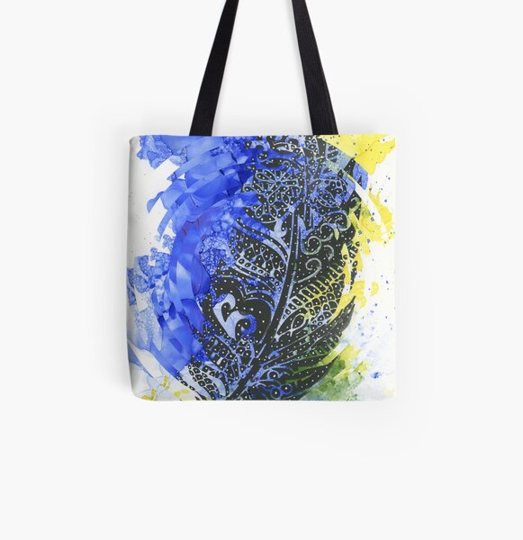 Feather of Delight - Abstract Design All Over Print Tote Bag