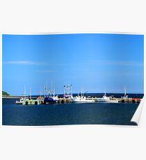Harbour at Cheticamp, Nova Scotia Poster