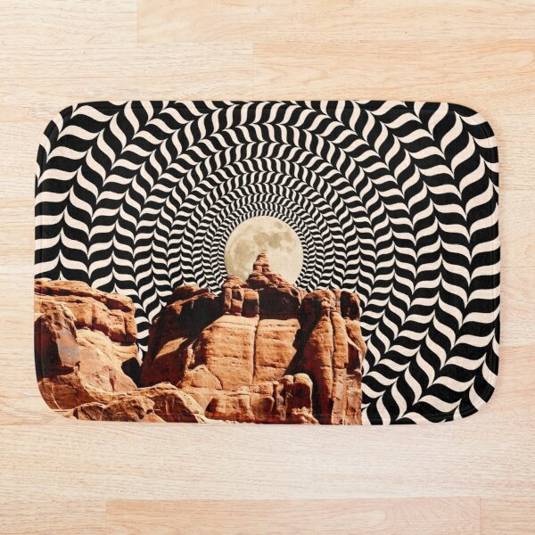 Illusionary Road Trip Bath Mat