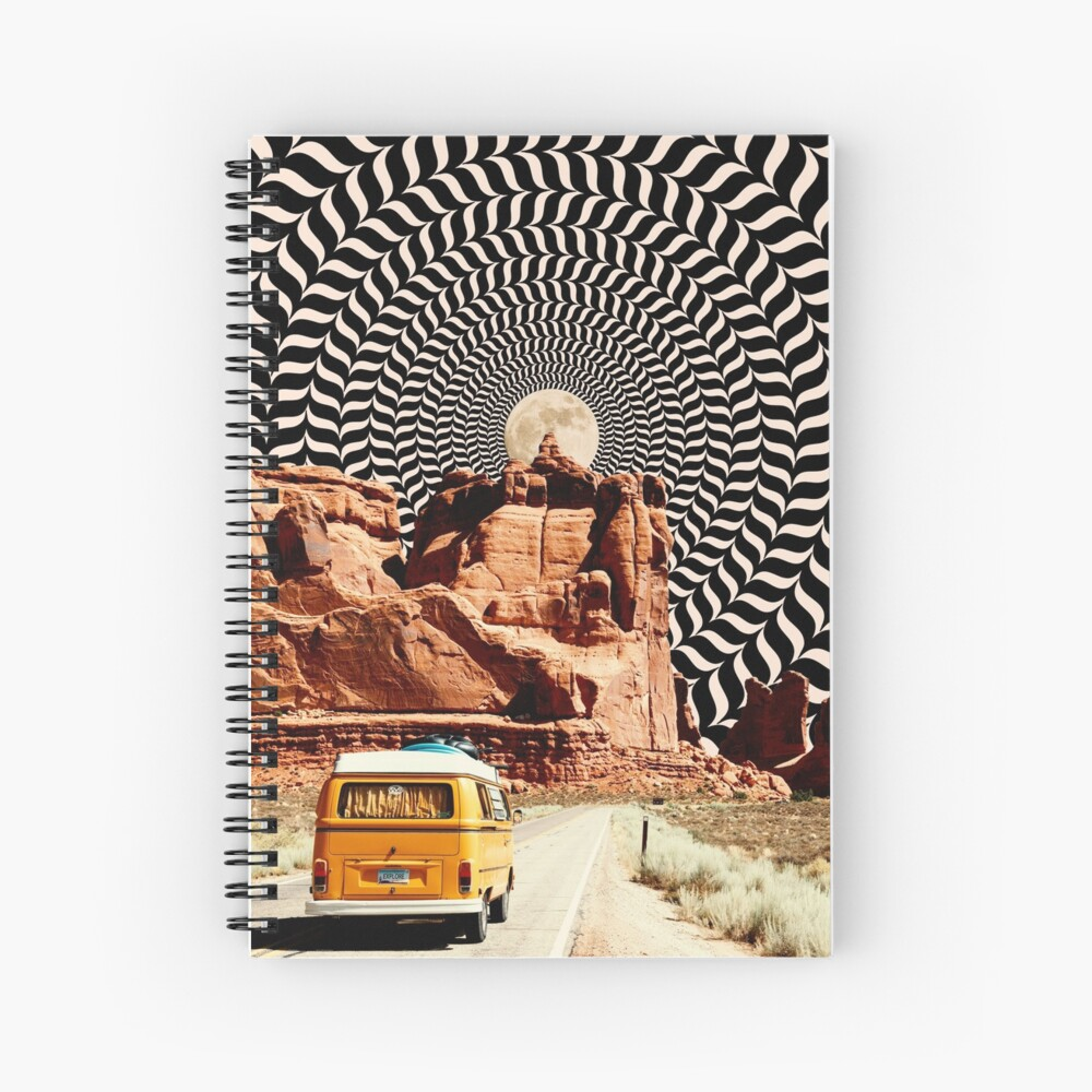 Illusionary Road Trip Spiral Notebook